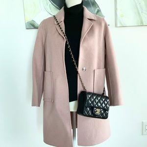 100% Wool Coat Dusty Pink